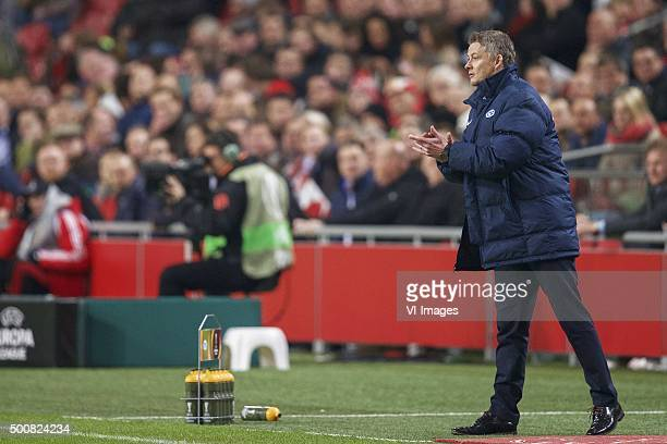 coach Ole Gunnar Solskaer of Molde FK during the UEFA Europa League match between Ajax Amsterdam and Molde FK on December 10 2015 at the Amsterdam...