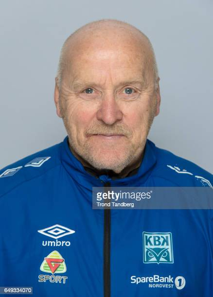 Coach Ole Olsen of Team Kristiansund BK on March 7 2017 in Kristiansund Norway