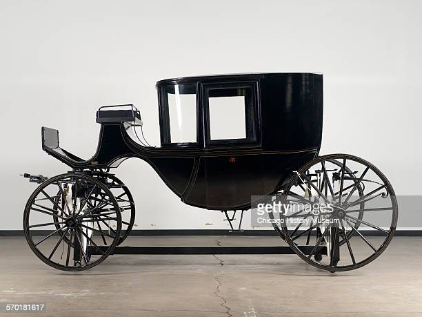 Coach or carriage that belonged to Abraham and Mary Todd Lincoln during their residence in Washington DC manufactured by JB Brewster Company in New...