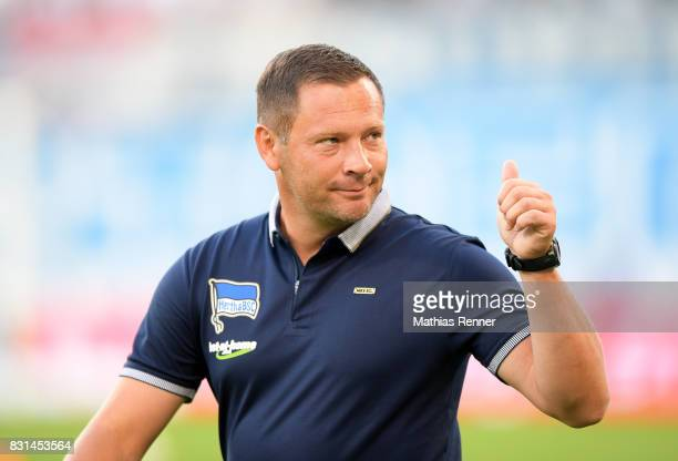 coach Pal Dardai of Hertha BSC before the game between FC Hansa Rostock and Hertha BSC on August 14 2017 in Rostock Germany