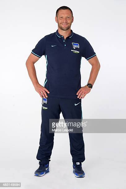 Coach Pal Dardai of Hertha BSC during a portrait session for the 2015/16 season on August 6 2015 in Berlin Germany
