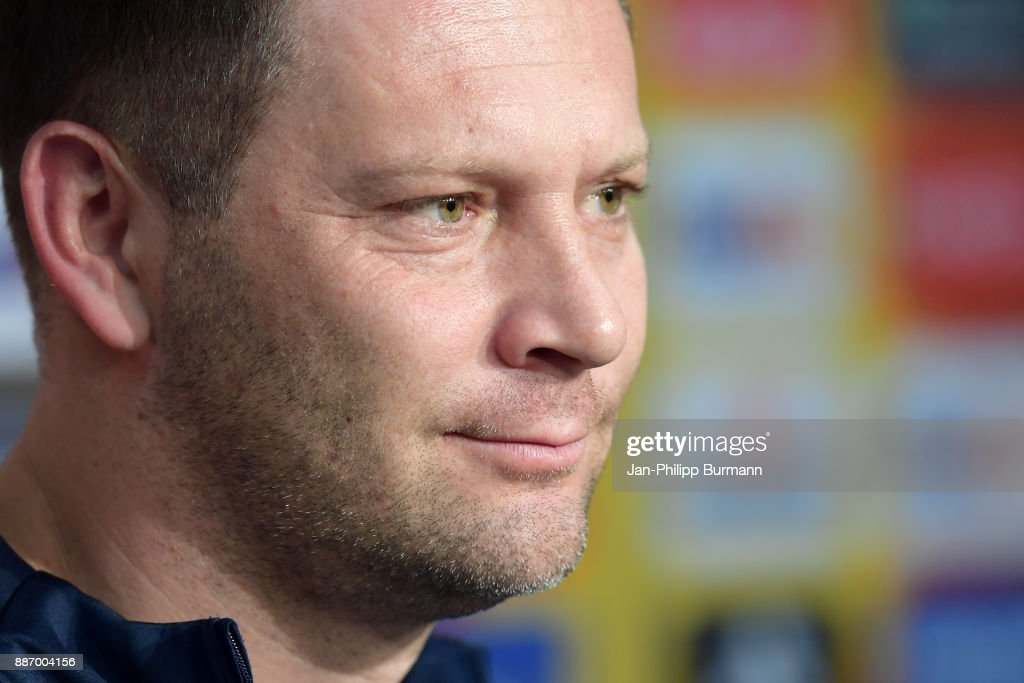 coach Pal Dardai of Hertha BSC during the press conference on december 6, 2017 in Berlin, Germany.