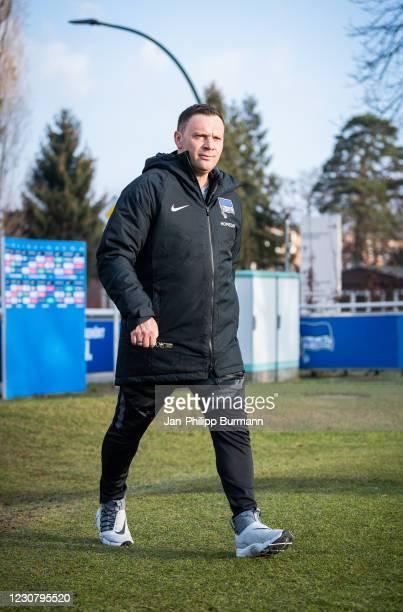 Coach Pal Dardai of Hertha BSC during the training session at Schenckendorffplatz on January 26, 2021 in Berlin, Germany.