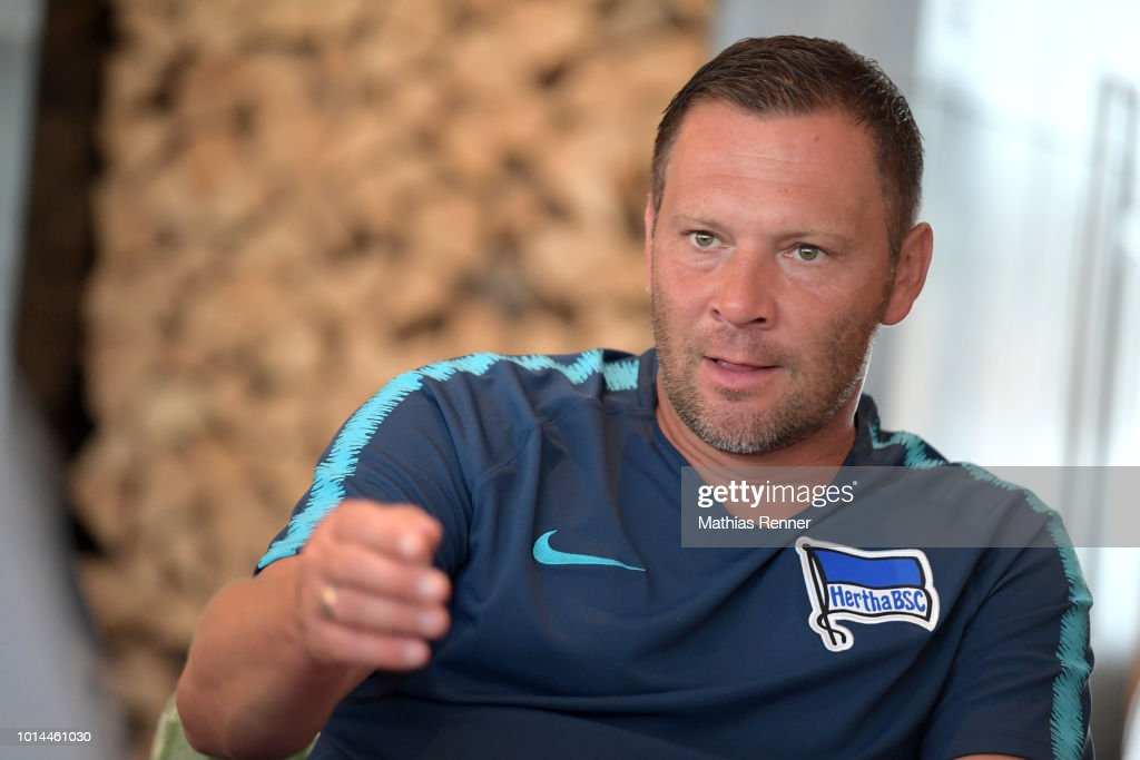 Coach Pal Dardai of Hertha BSC talks during the training camp on august 10, 2018 in Schladming, Austria.