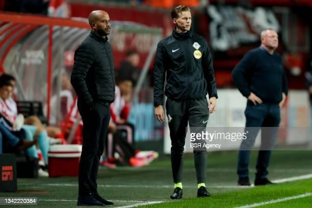 Coach Pascal Jansen of AZ during the Dutch Eredivisie match between FC Twente and AZ at De Grolsch Veste on September 23, 2021 in Enschede,...