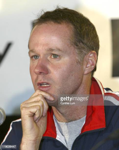 Coach Patrick McEnroe at the Davis Cup Draw at the Home Depot Center in Carson CA on March 3 2005