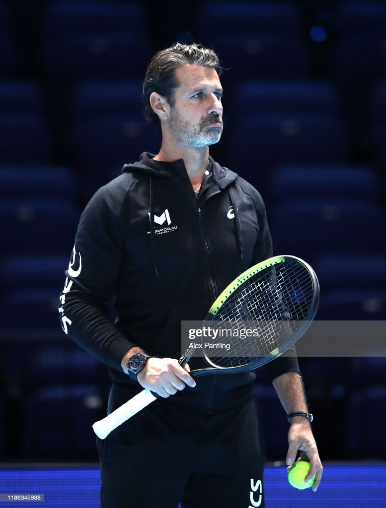 Coach Patrick Mouratoglou Watches Stefanos Tsitsipas Of Greece Train News Photo Getty Images
