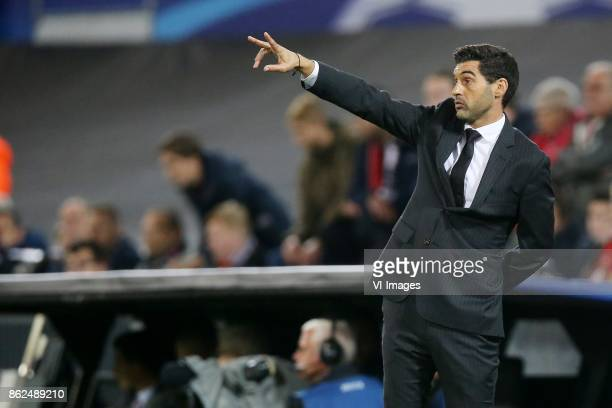coach Paulo Fonseca of FC Shakhtar Donetsk during the UEFA Champions League group F match between Feyenoord Rotterdam and Shakhtar Donetsk at the...