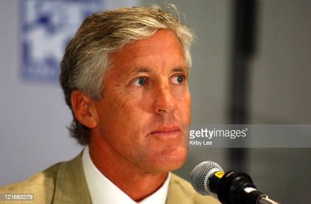 Coach Pete Carroll at Pacific-10 Conference Football Media Day at the Sheraton Gateway Hotel Los Angeles Airport on Tuesday, August 2, 2005.