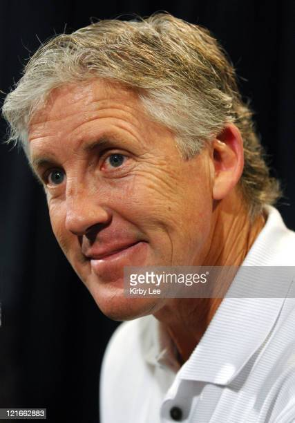 Coach Pete Carroll at Rose Bowl Media Day at the Home Depot Center in Carson, Calif. On Saturday, December 30, 2006.