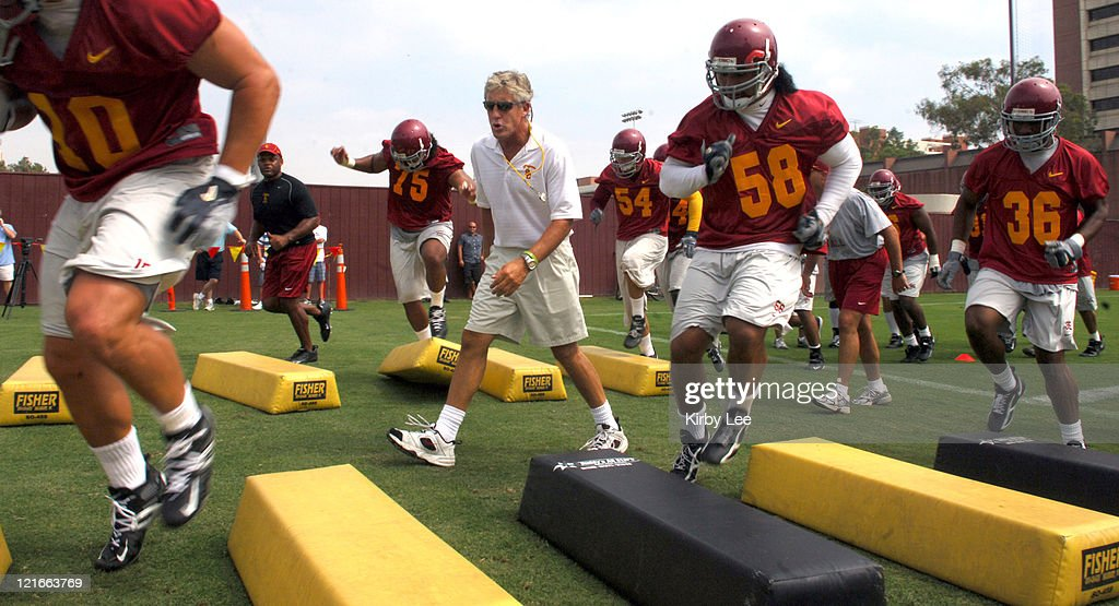 NCAA Football - USC - Practice - August 3, 2006