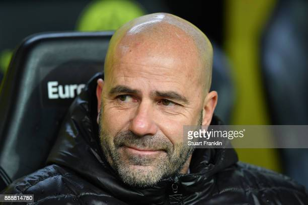 Coach Peter Bosz of Dortmund before the Bundesliga match between Borussia Dortmund and SV Werder Bremen at Signal Iduna Park on December 9 2017 in...