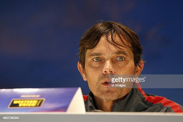 Coach Phillip Cocu of PSV during the press conference of PSV prior to the UEFA Europa League match between PSV Eindhoven and Dynamo Moscow on...