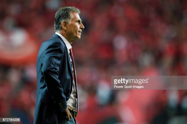 Coach Queiroz Carlos of team Iran during their 2018 FIFA World Cup Russia Final Qualification Round Group A match between Korea Republic and Islamic...