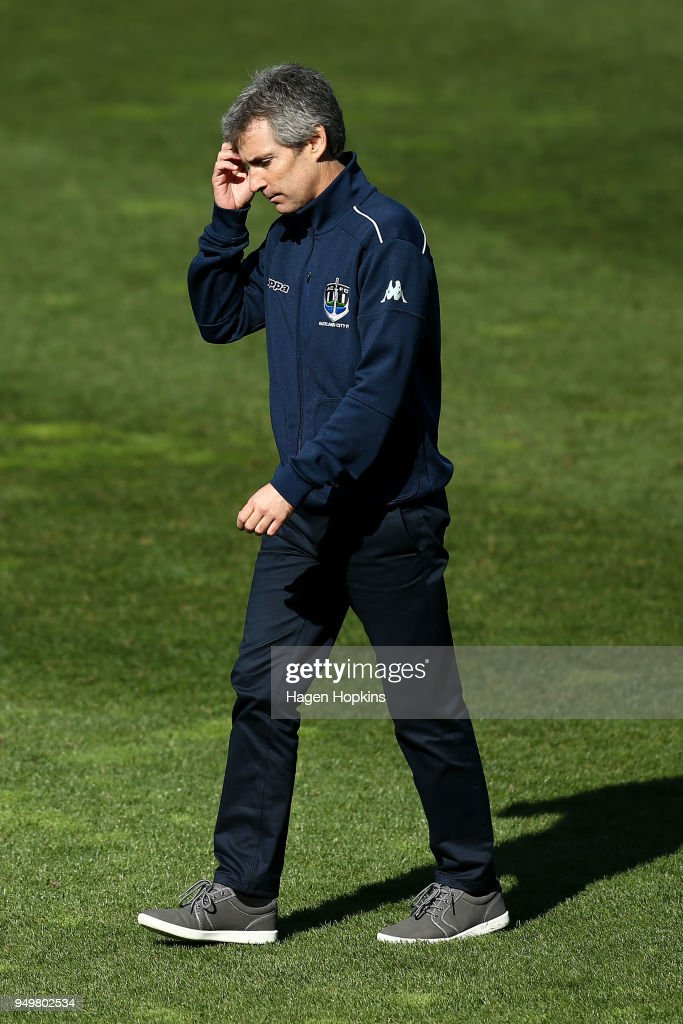 Coach Ramon Tribulietx Of Auckland City Fc Looks On During