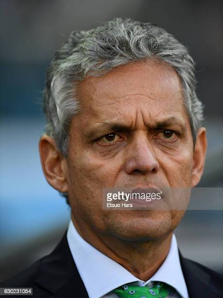 Coach Reinaldo Rueda of Atletico Nacional looks on prior to the FIFA Club World Cup 3rd place match between Club America and Atletico National at...