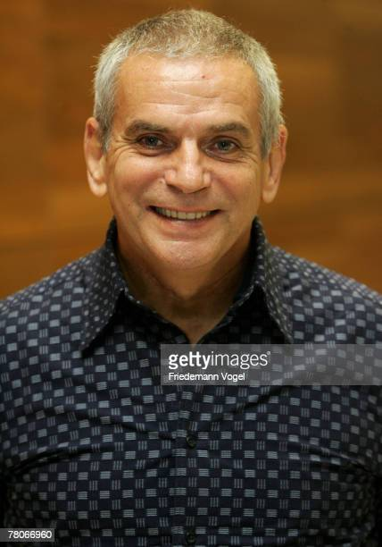 Coach Reinhard Fabisch of Germany poses for the media during the symposium of the DFB overseas experts at the Marriott Hotel on November 21 2007 in...