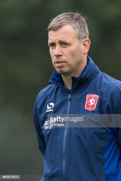 coach Rene Hake of FC Twenteduring a training session at Trainingscentrum Hengelo on June 24 2017 in Hengelo The Netherlands