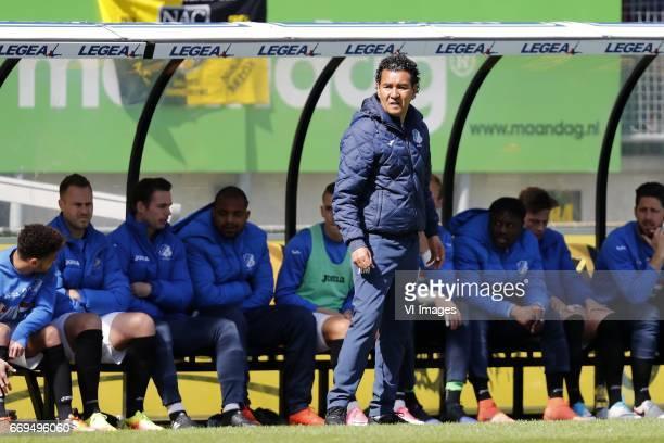 coach Ricardo Moniz of FC Eindhovenduring the Jupiler League match between NAC Breda and FC Eindhoven at the Rat Verlegh stadium on April 17 2017 in...