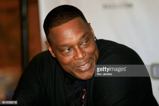 Coach Rick Mahorn of Trilogy speaks to the media during week six of the BIG3 three on three basketball league at American Airlines Center on July 30,...