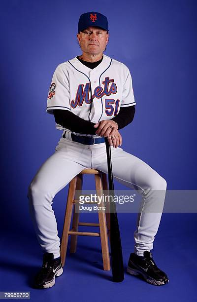 Coach Rick Peterson of the New York Mets poses during Spring Training Photo Day at Tradition Field on February 23 2008 in Port Saint Lucie Florida