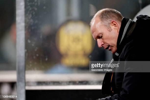 coach Robert Molenaar of Roda JC during the Dutch Keuken Kampioen Divisie match between Roda JC v FC Dordrecht at the Parkstad Limburg Stadium on...