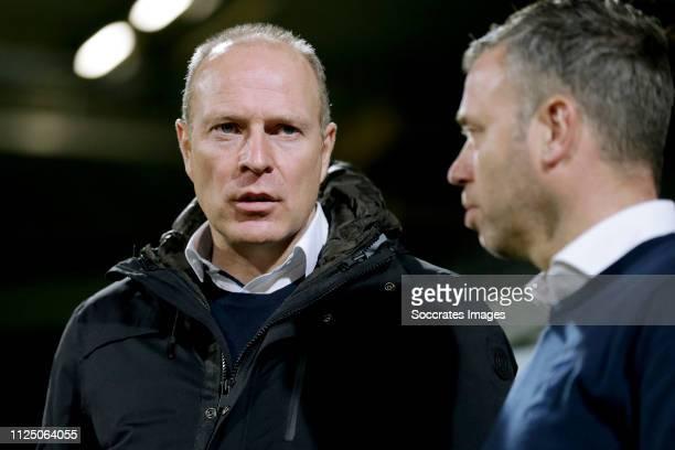 coach Robert Molenaar of Roda JC during the Dutch Keuken Kampioen Divisie match between Roda JC v SC Cambuur at the Parkstad Limburg Stadium on...