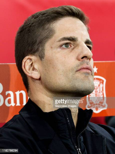 coach Robert Moreno of Spain during the EURO Qualifier match between Spain v Malta on November 15 2019