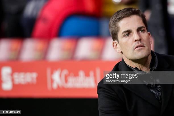 coach Robert Moreno of Spain during the EURO Qualifier match between Spain v Romania at the Wanda Metropolitano stadium on November 18 2019