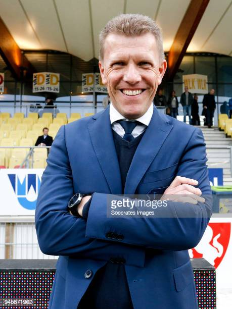 coach Robin Pronk of FC Utrecht U23 during the Dutch Jupiler League match between Telstar v Utrecht U23 at the Rabobank IJmond Stadium on April 13...