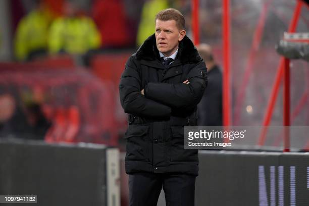 coach Robin Pronk of FC Utrecht U23 during the Dutch Keuken Kampioen Divisie match between FC Utrecht v Go Ahead Eagles at the Stadium Galgenwaard on...