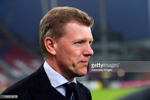 coach Robin Pronk of FC Utrecht U23 during the Dutch Keuken Kampioen Divisie match between Utrecht U23 v Sparta at the Sportpark Zoudenbalch on March...