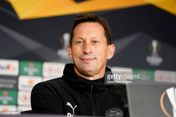 Coach Roger Schmidt of PSV during the PSV press conference at the Philips Stadium on October 21, 2020 in Eindhoven Netherlands