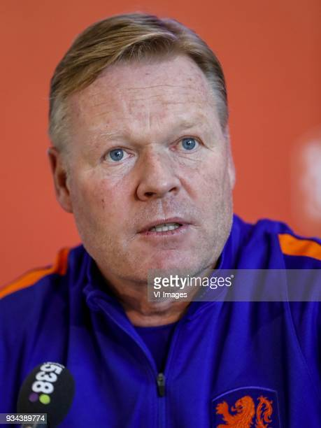 coach Ronald Koeman of Holland during a press conference prior to the International friendly match between The Netherlands and England on March 19...