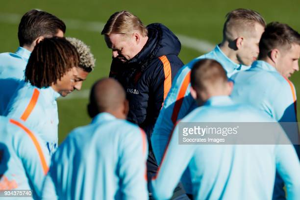 coach Ronald Koeman of Holland during the Training Holland at the KNVB Campus on March 19 2018 in Zeist Netherlands