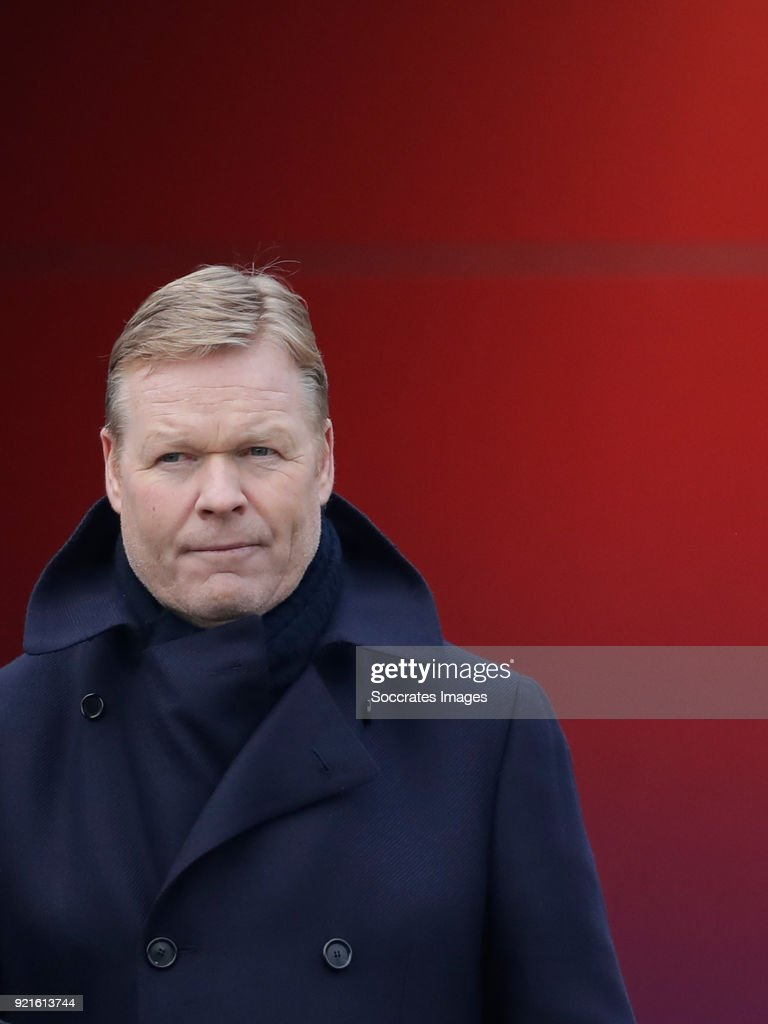 coach Ronald Koeman of Holland during the Training Holland U21 at the KNVB Campus on February 19, 2018 in Zeist Netherlands