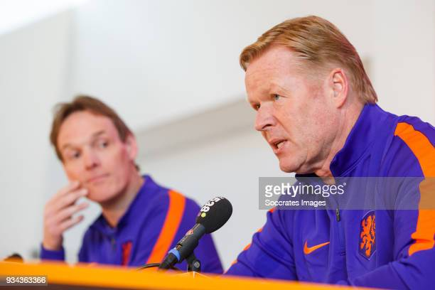 coach Ronald Koeman of Holland pressconference during the Press conference Ronald Koeman at the KNVB Campus on March 19 2018 in Zeist Netherlands