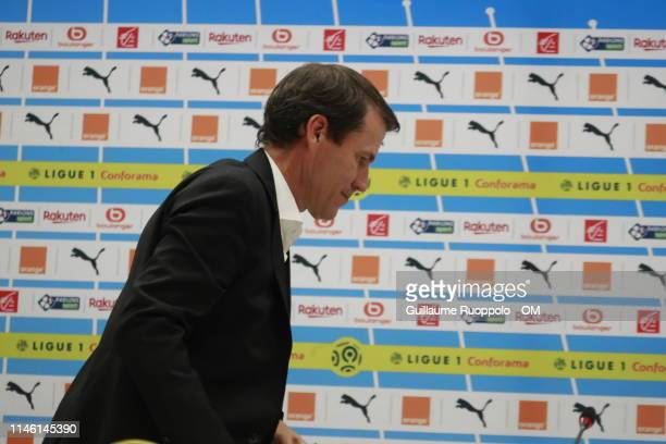 Coach Rudi Garcia during Olympique Marseille v Montpellier HSC at Stade Velodrome on May 24 2019 in Marseille France