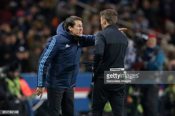 coach Rudi Garcia of Olympique Marseille during the French League 1 match between Paris Saint Germain v Olympique Marseille at the Parc des Princes...