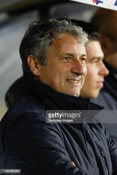 Coach Ruud Brood of NAC Breda during the Dutch Keuken Kampioen Divisie match between NAC Breda v MVV Maastricht at the Rat Verlegh Stadium on...