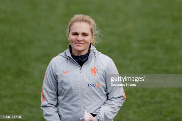Coach Sarina Wiegman of Holland Women during the Training WomenTraining Holland Women at the CS Avion on March 9, 2020 in Avion France