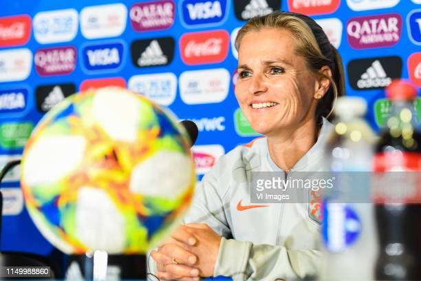 coach Sarina Wiegman of Netherlands women during a training session prior to the FIFA Women's World Cup France 2019 group E match between The...