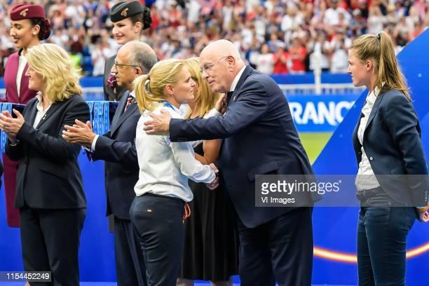 Coach Sarina Wiegman of Netherlands women, Michael van Praag of the KNVB during the FIFA Women's World Cup France 2019 final match between United...