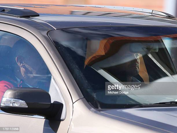 Coach Scott Watters leaves a St Kilda Saints AFL training session at Moorabbin Oval on August 1 2013 in Melbourne Australia