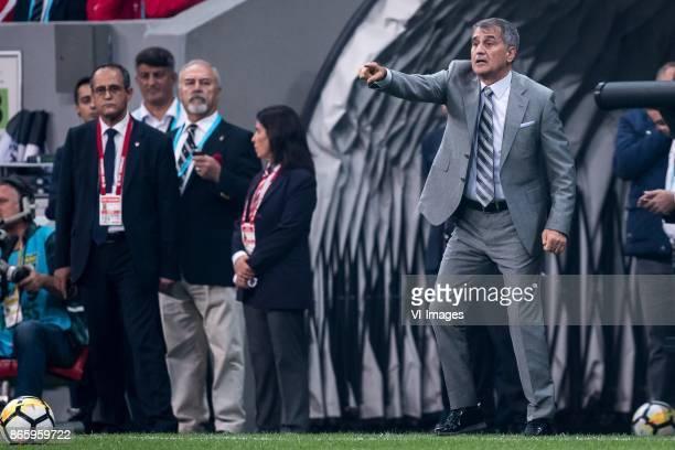 coach Senol Gunes of Besiktas JK during the Turkish Spor Toto Super Lig football match between Besiktas JK and Medipol Basaksehir FK on October 23...