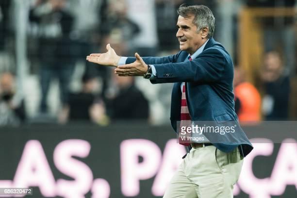 Coach Senol Gunes of Besiktas JKduring the Turkish Spor Toto Super Lig football match between Besiktas JK and Kasimpasa AS on May 20, 2017 at the...