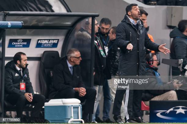 coach Sergio Conceicao of FC Porto during the UEFA Champions League group G match between Besiktas JK and FC Porto on November 21 2017 at the...