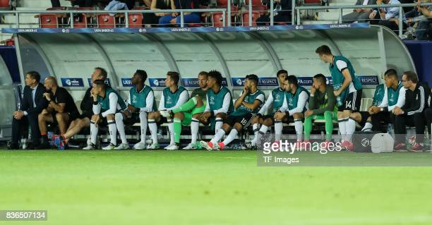 Coach Stefan Kuntz of Germany Cocoach Antonio di Salvo of Germany Goalkeeper coach Klaus Thomforde of Germany Dominik Kohr of Germany Gideon Jung of...
