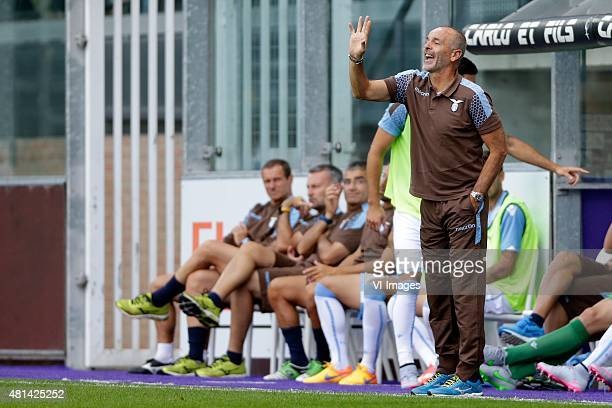 coach Stefano Pioli of SS Lazio Roma during the preseason friendly match between RSC Anderlecht and SS Lazio Roma on July 19 2015 at the Constant...