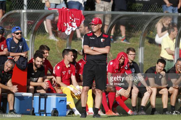 Coach Stephane Henchoz of FC Sion during the Pre-season Friendly match between FC Sion v PSV Eindhoven at Stade Saint-Marc on July 03, 2019 in...
